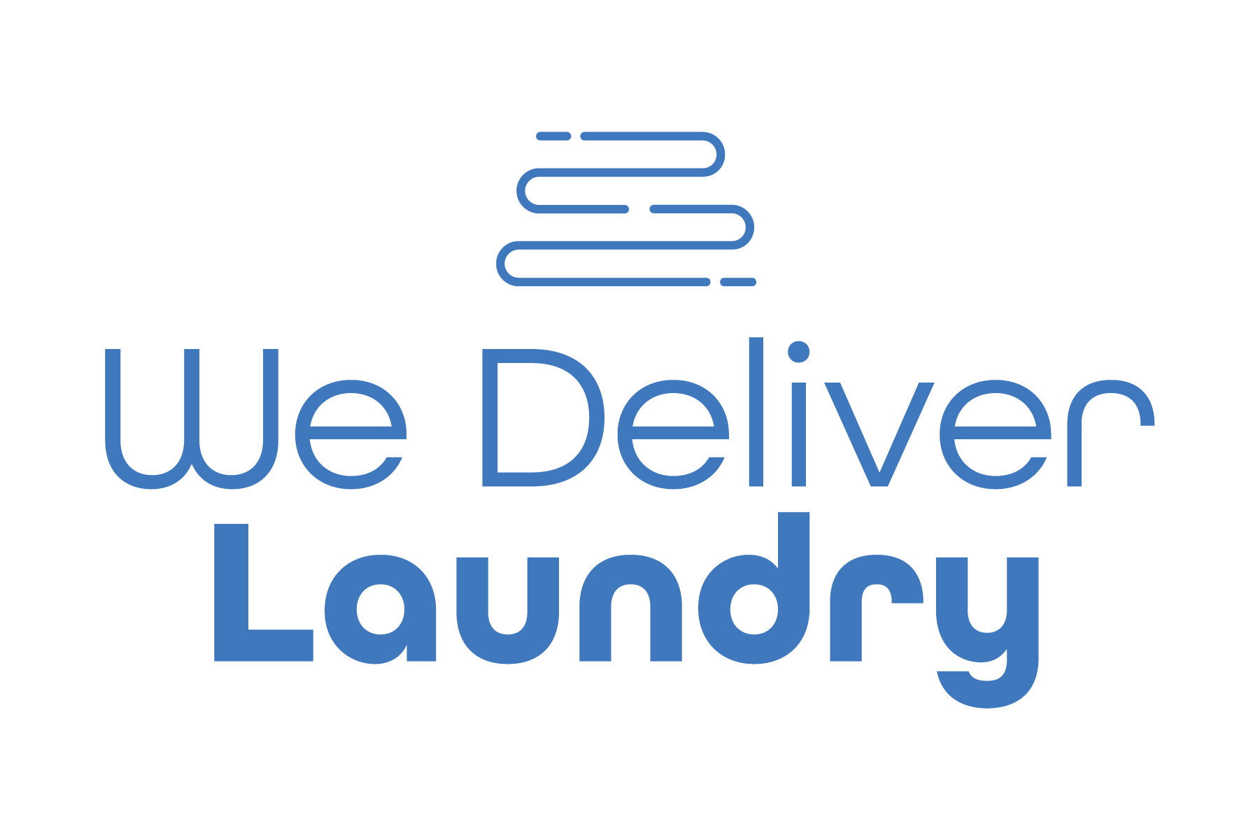 we delivery laundry service logo