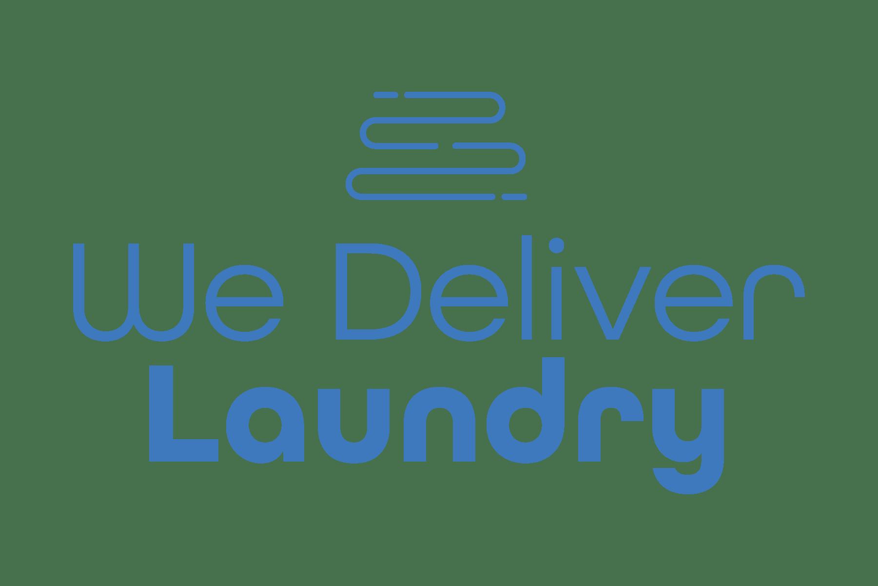 we deliver laundry service logo