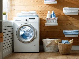 tumble dryer in laundry room